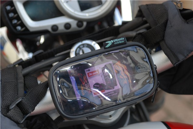 Ultimate Addons iPhone motorcycle mount - review