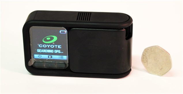 Coyote speed camera alert system