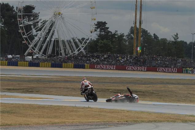 Simoncelli/Pedrosa crash sequence
