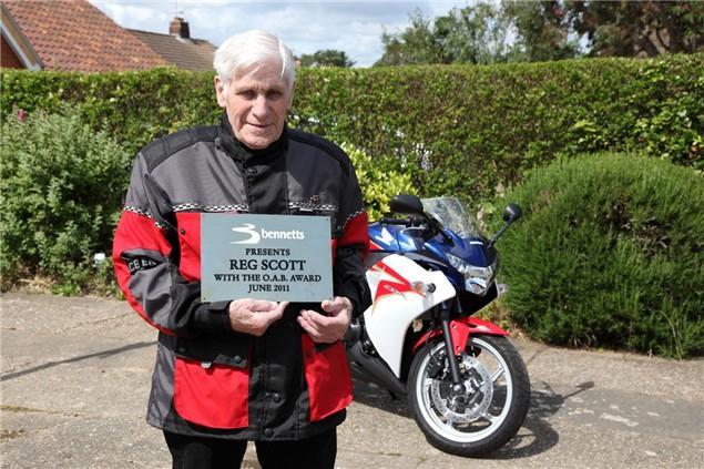 94 year old is Britain's oldest biker