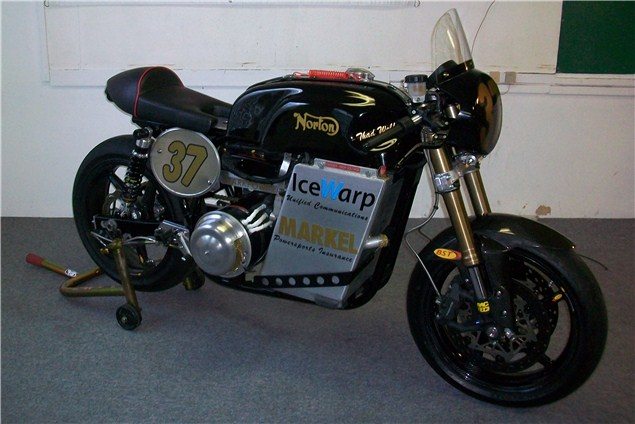 Electric 1950s Norton competes in TTXGP