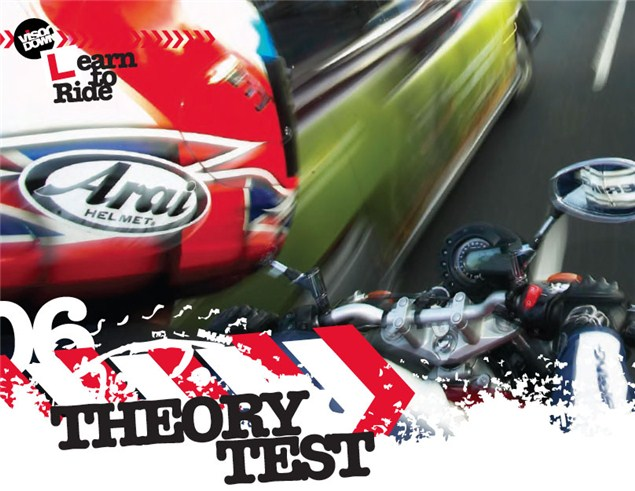 Learning to ride a motorcycle: Theory test