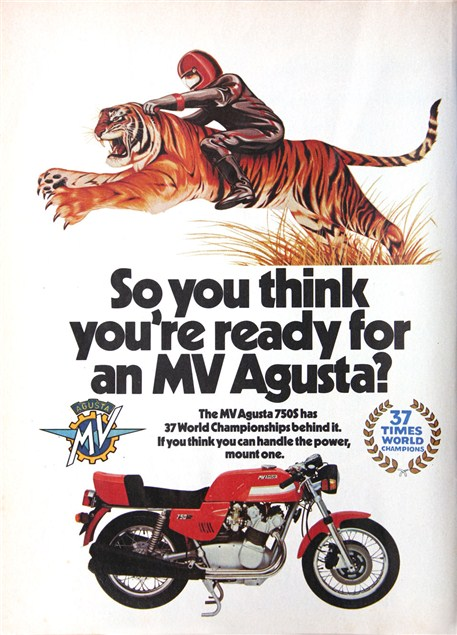Groovy motorcycle ads from the past