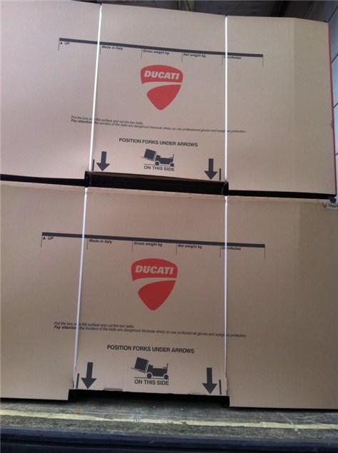 First Ducati 1199s arrive in the UK