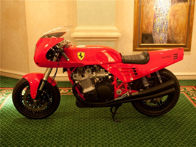 'Ferrari' motorcycle sold. At last.