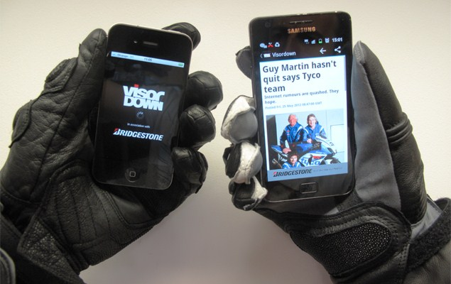 Visordown's free motorcycle news app for Android and iPhones