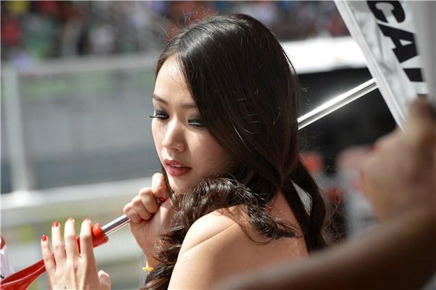 MotoGP grid girl pictures Sepang 2012