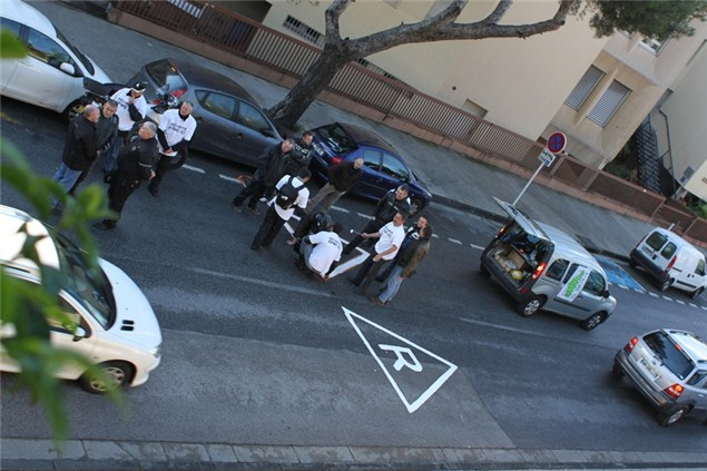 'Angry' French bikers at it again