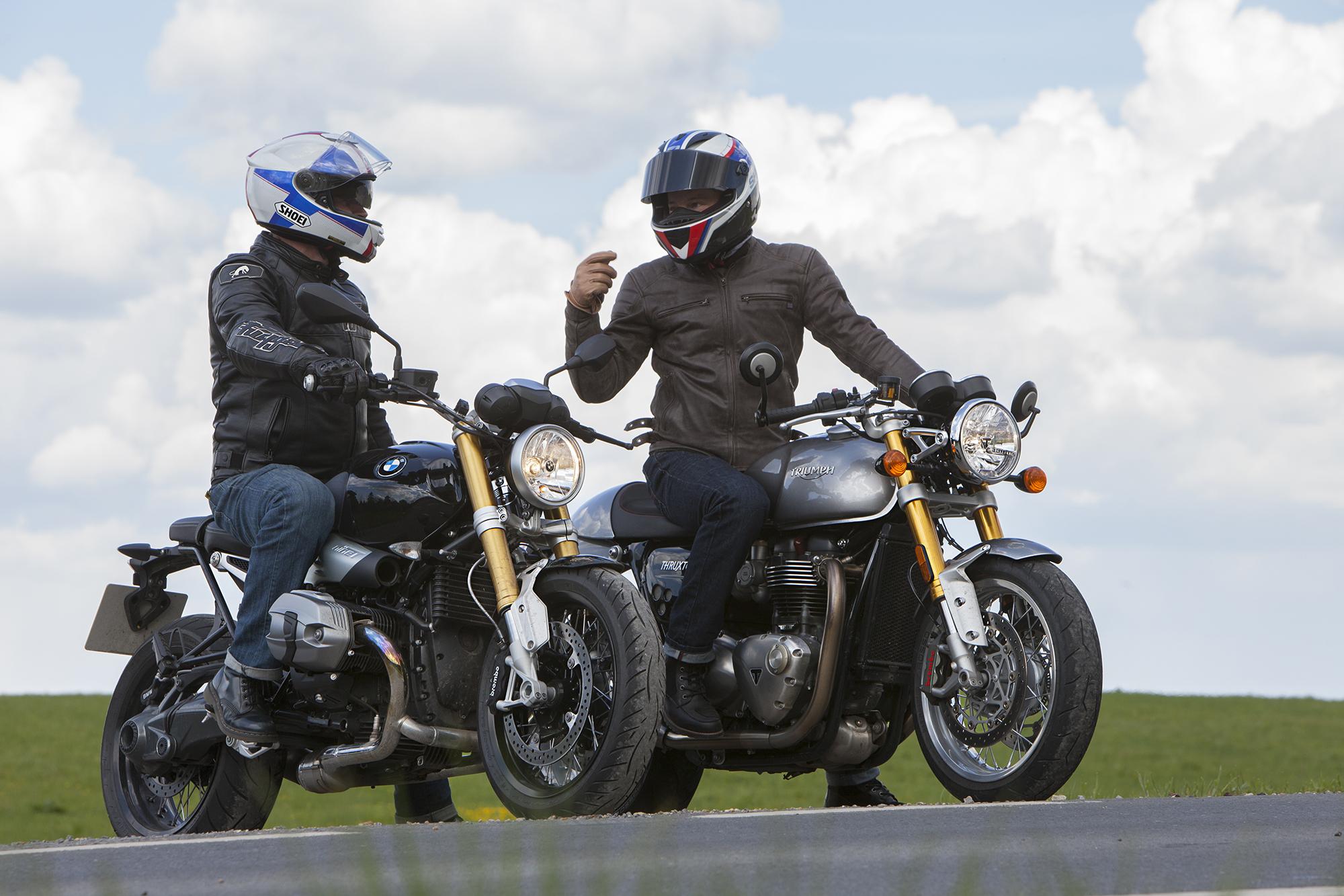 Triumph Thruxton R vs BMW R nineT review | Visordown