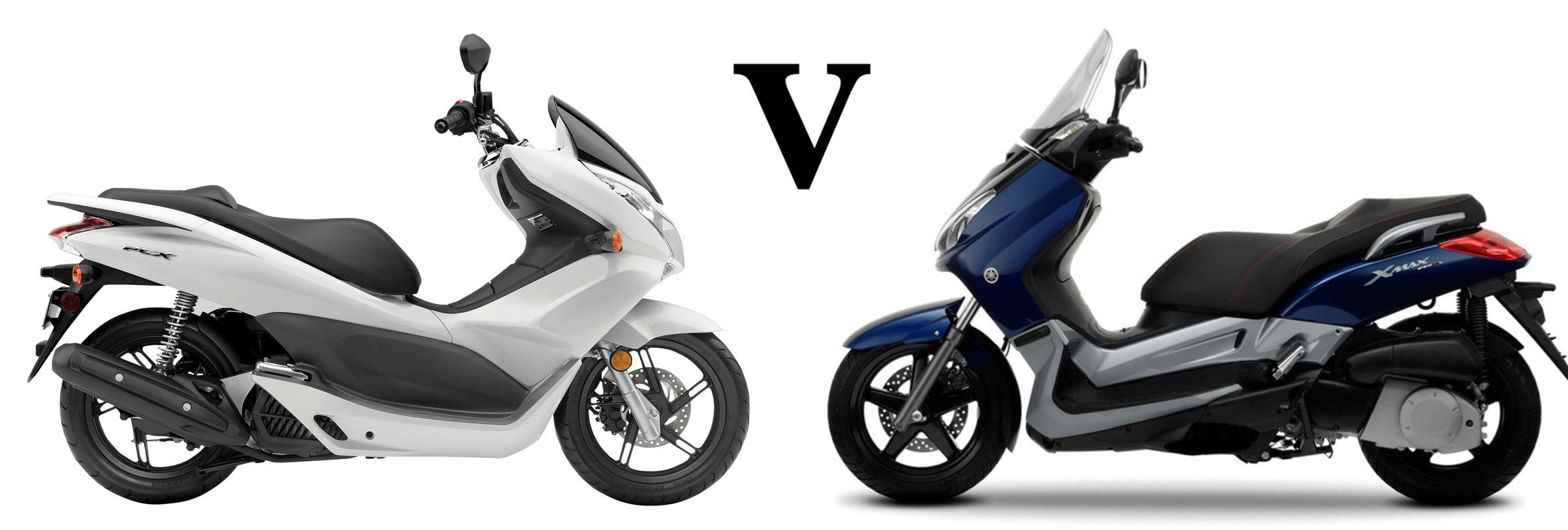 Versus: Honda PCX125 vs Yamaha X-Max 125 | Visordown