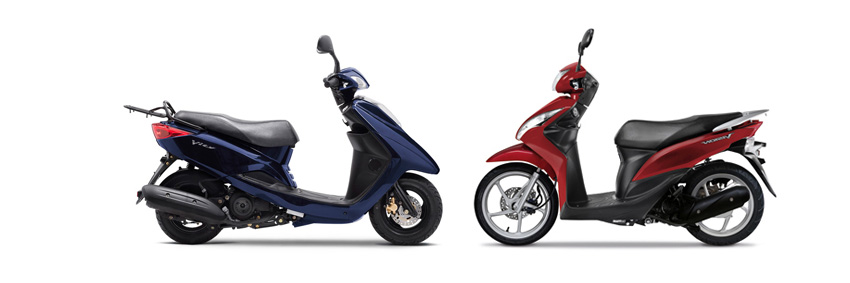 Versus: Yamaha Vity 125 vs Honda Vision 110 | Visordown