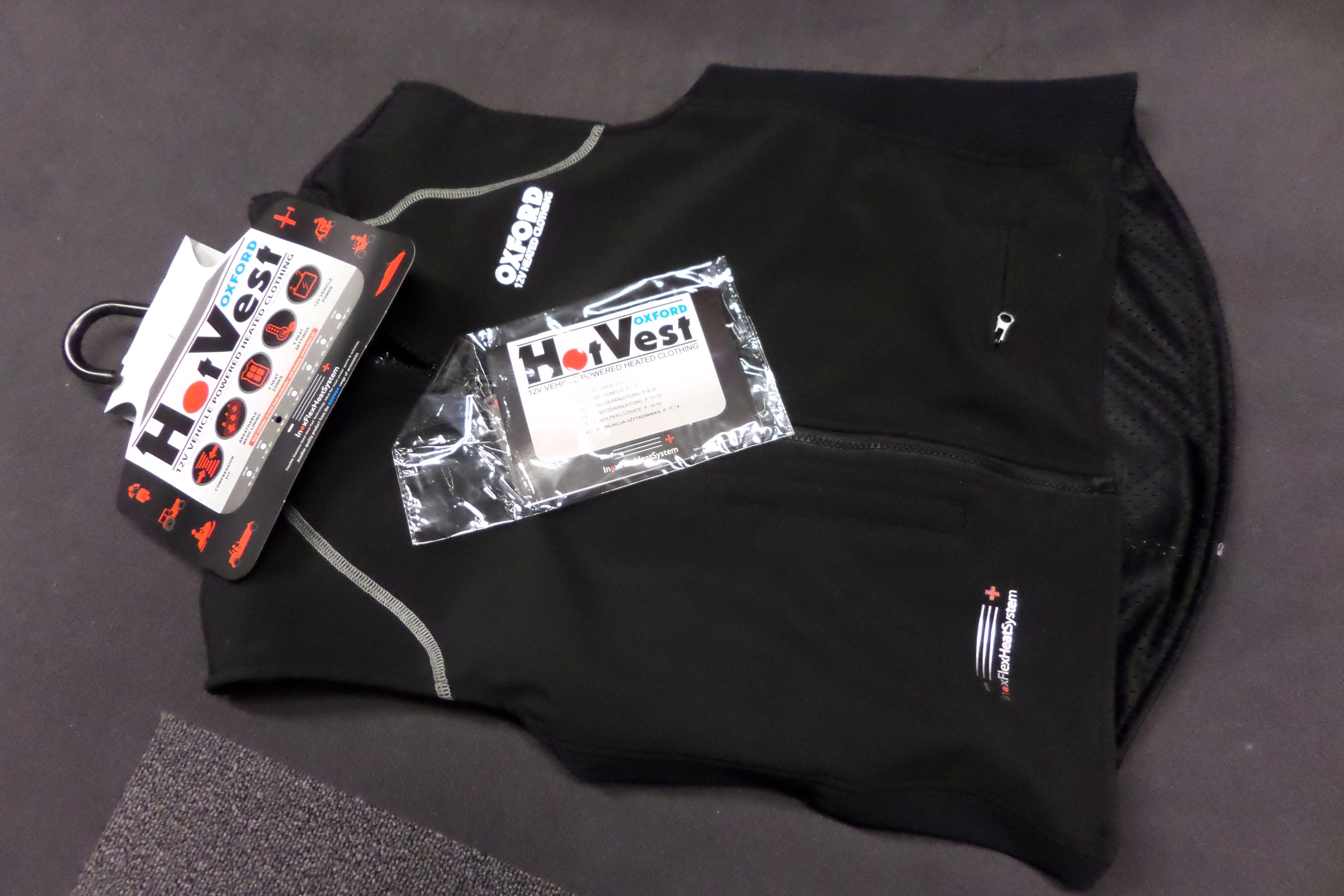 New Oxford Hotvest 12v Heated Motorcycle Vest Visordown Jacket Wiring