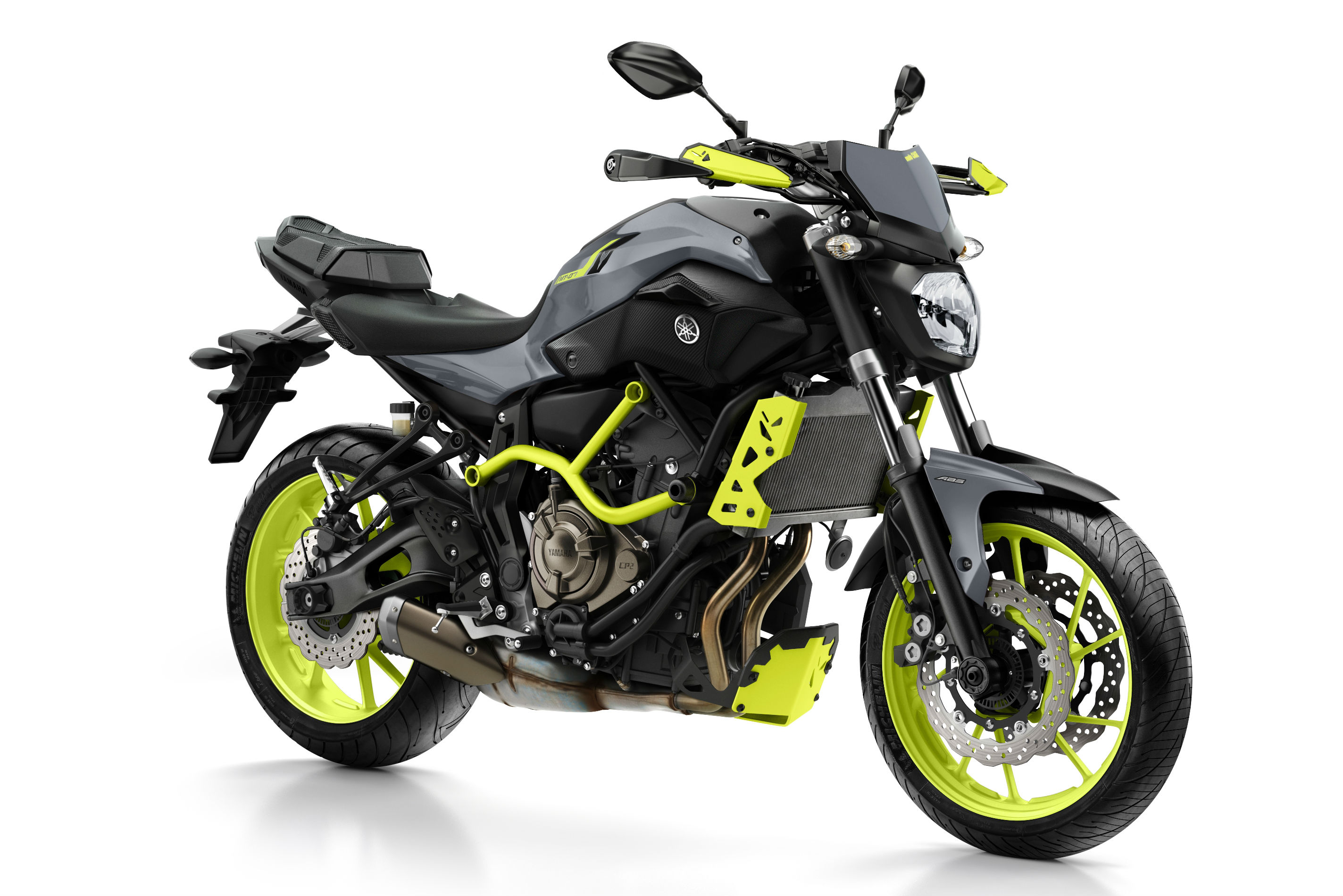 yamaha mt 07 moto cage 39 night fluo 39 revealed visordown. Black Bedroom Furniture Sets. Home Design Ideas