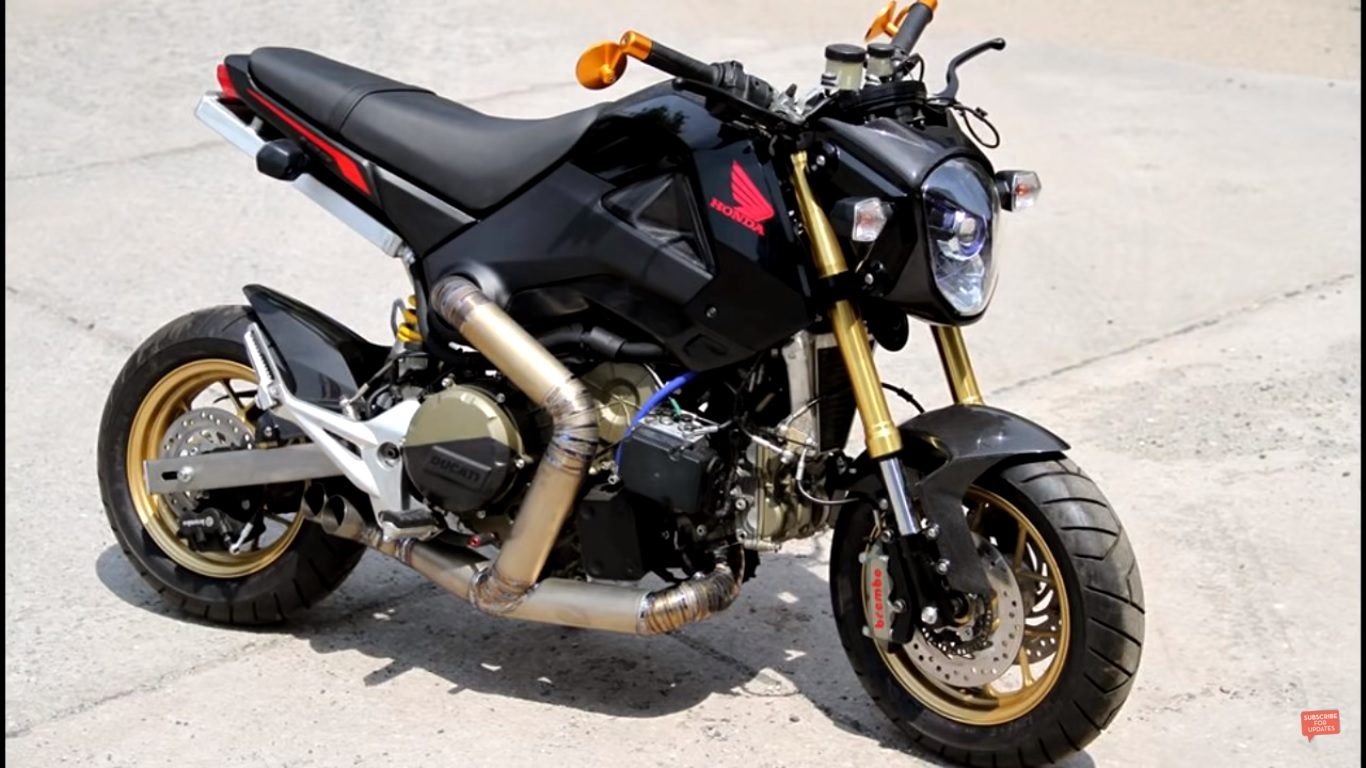 the honda msx125 with an 1199 panigale e visordown. Black Bedroom Furniture Sets. Home Design Ideas