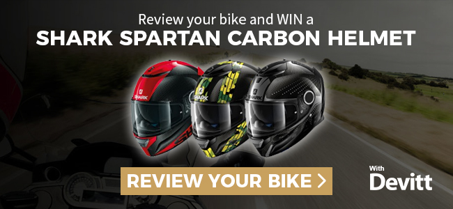 A chance to win a Shark helmet worth £400 – just by telling us about your bike