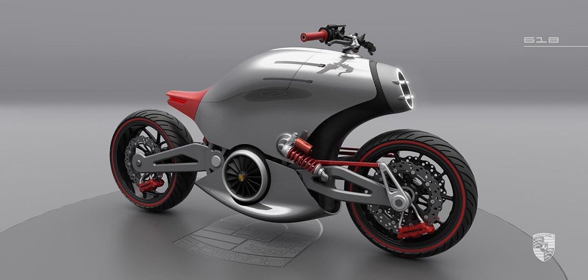 The 'Porsche' motorcycle concept   Visordown