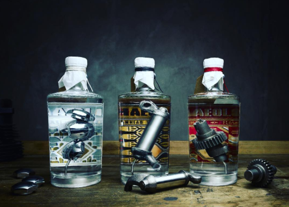 Would you drink alcohol that's been mixed with motorcycle parts?