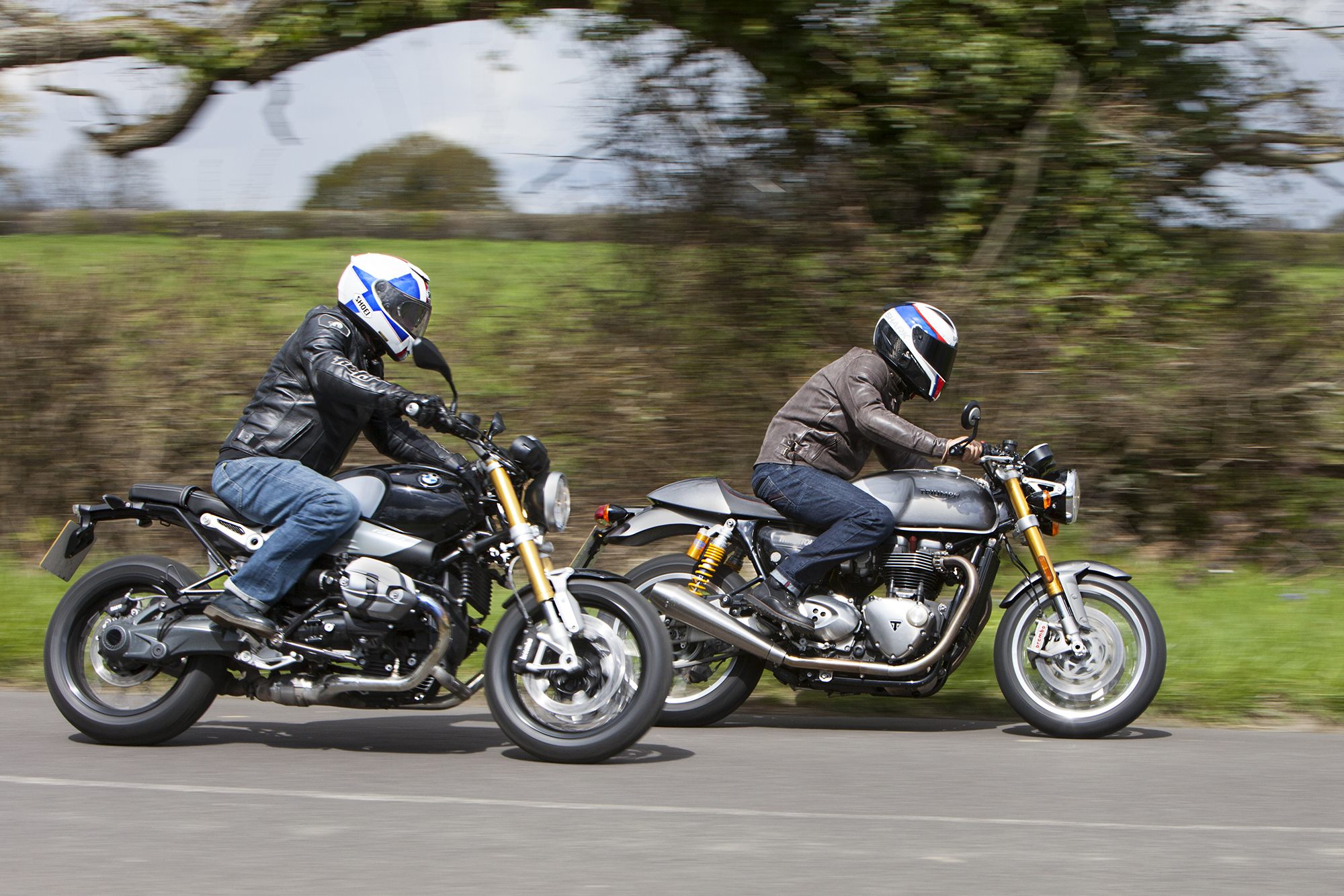 Back To Test Triumph Thruxton R Vs BMW NineT