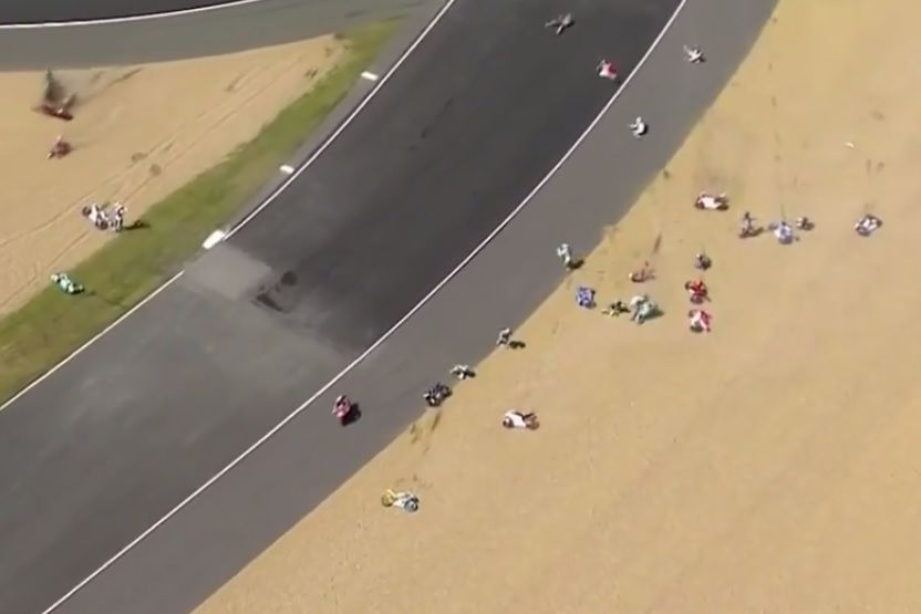 Moto3 crash Le Mans