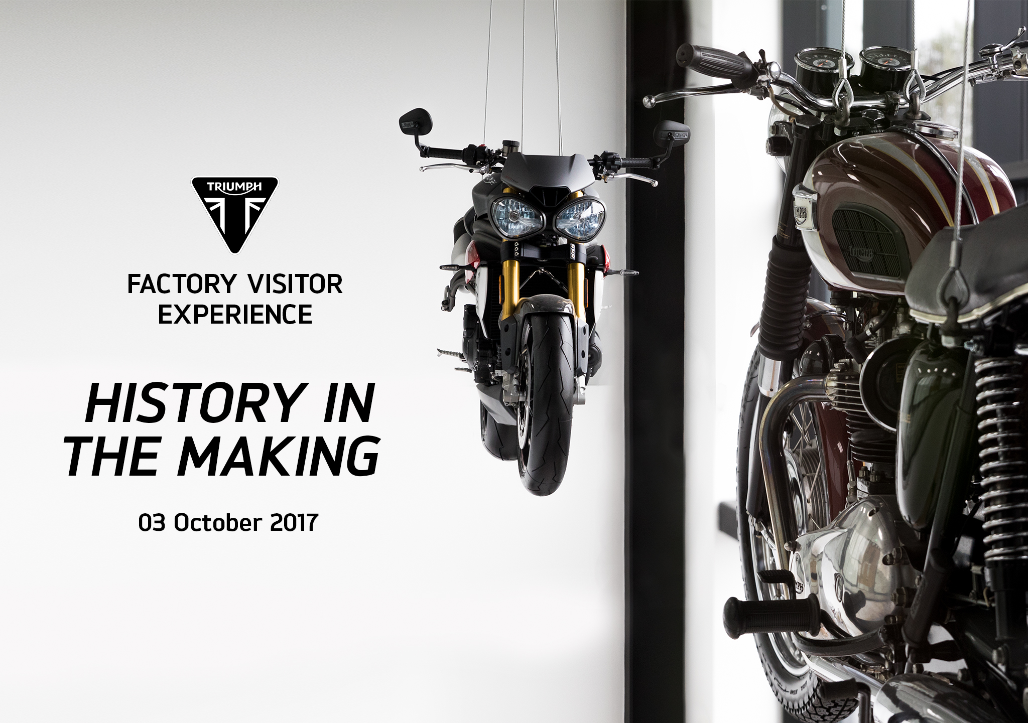 Triumph to open new factory visitor centre next month, with mystery new model reveal