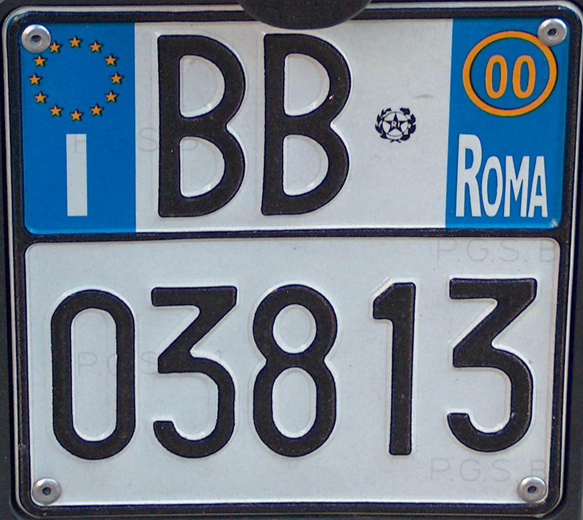 Italian reg plate