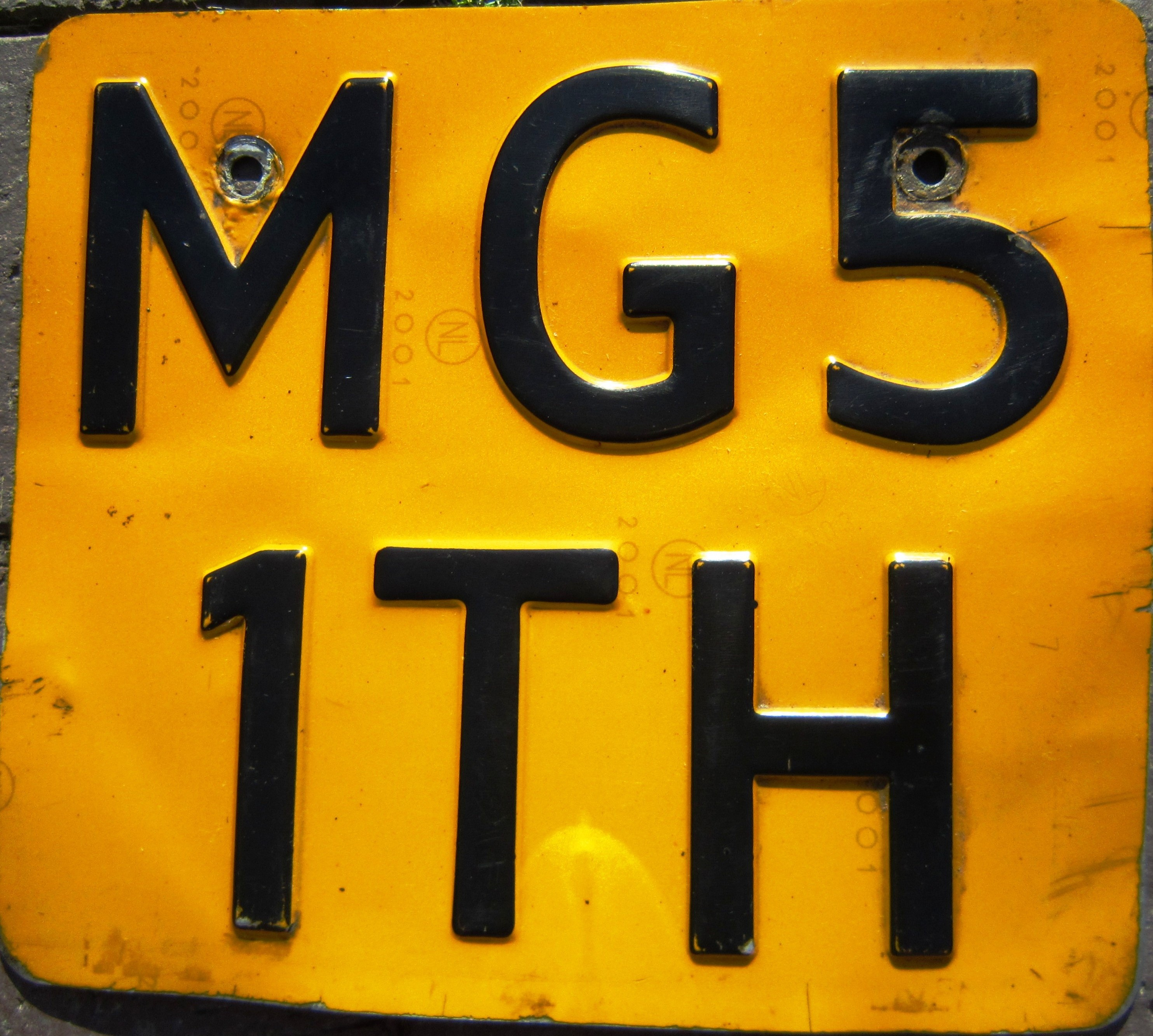Netherlands motorcycle plate