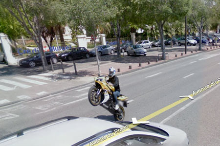 wheelie stunt r1 google street view Visordown Motorcycle News