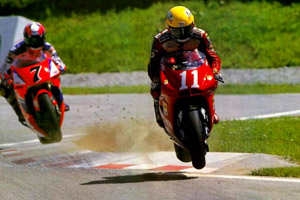 Kocinski on the Cagiva. He took the RC45