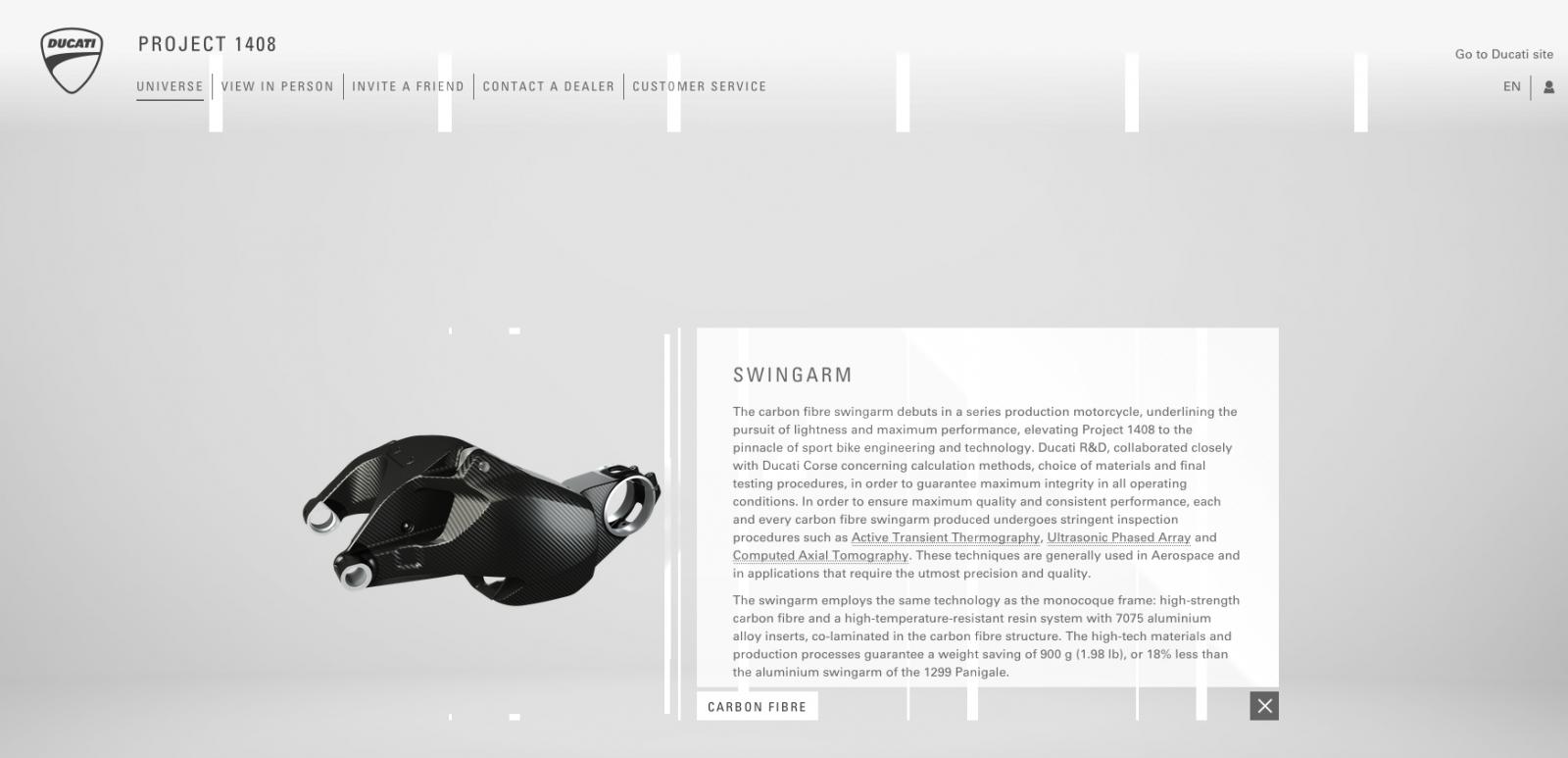 Ducati Project 1408 screenshot