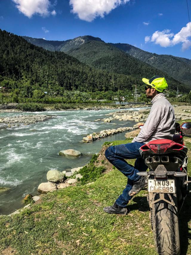 Motorcyclist Harish Rossi MV F4