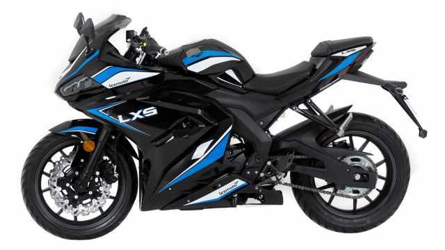 lexmoto lxs 125 black and blue
