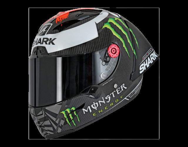 Jorge Lorenzo Winter Test Race R Pro Shark helmet