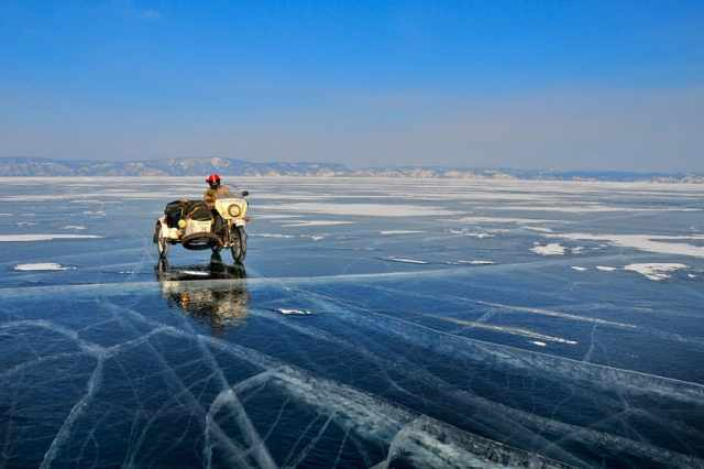 Ice Run on Lake Baikal