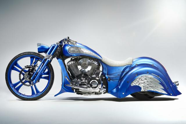 One-off Indian Chief Vintage with snowy mountain theme