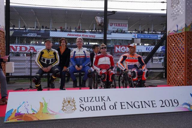 Wayne Rainey, Eddie Lawson, Kenny Roberts, Takuma Aoki [credit: Suzuka Circuit]