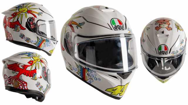 AGV K3 SVS White Zoo Valentino Rossi helmet