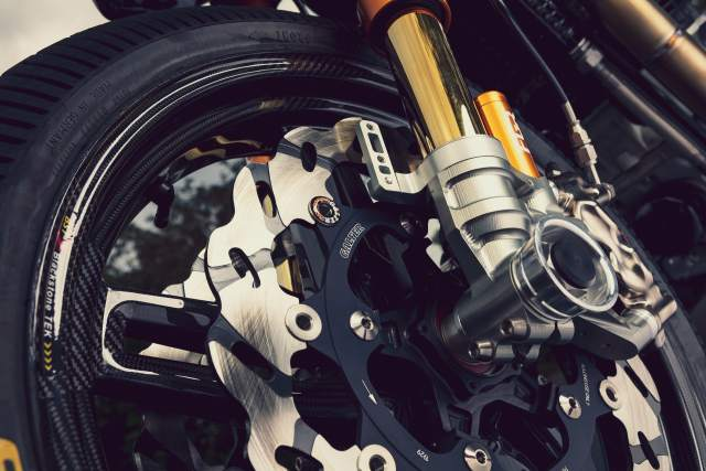 Royal Enfield custom Continental GT 650 suspension