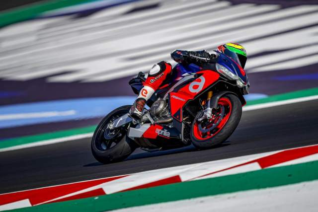 Aprilia RS600 MotoGP rider test