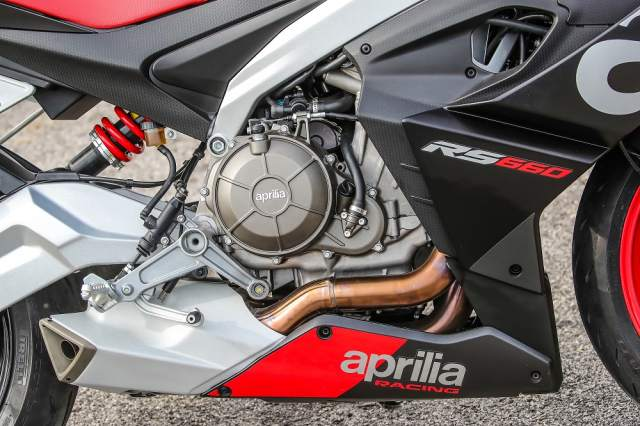 Aprilia RS660 twin cylinder engine