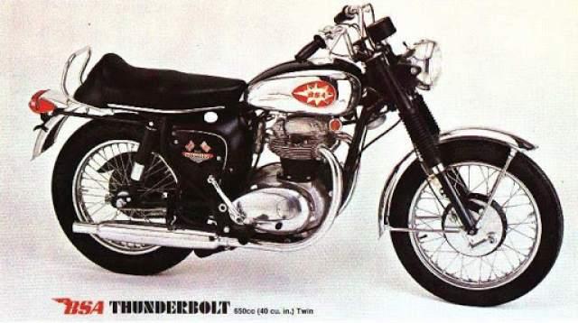 BSA A65 Thunderbolt.