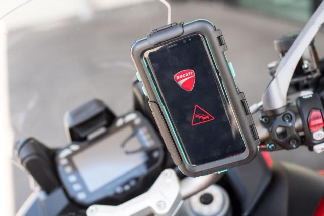 Ducati Audi safety car-bike comms smart highway