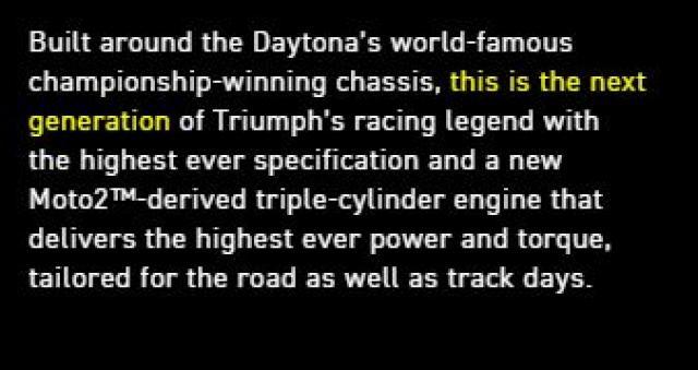 Why did Triumph build a limited edition Daytona 765?