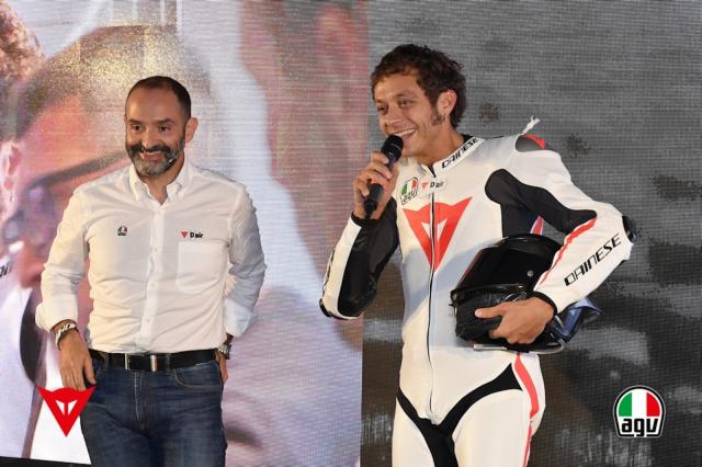 Cristiano Silei Dainese with Rossi