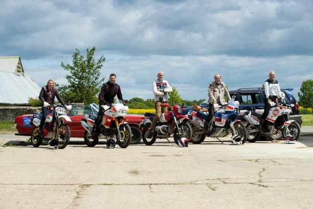 Dakar Enduro Rally classic bike line up