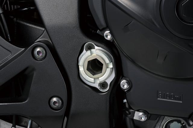 2019 GSX-R1000R adjustable swingarm pivot