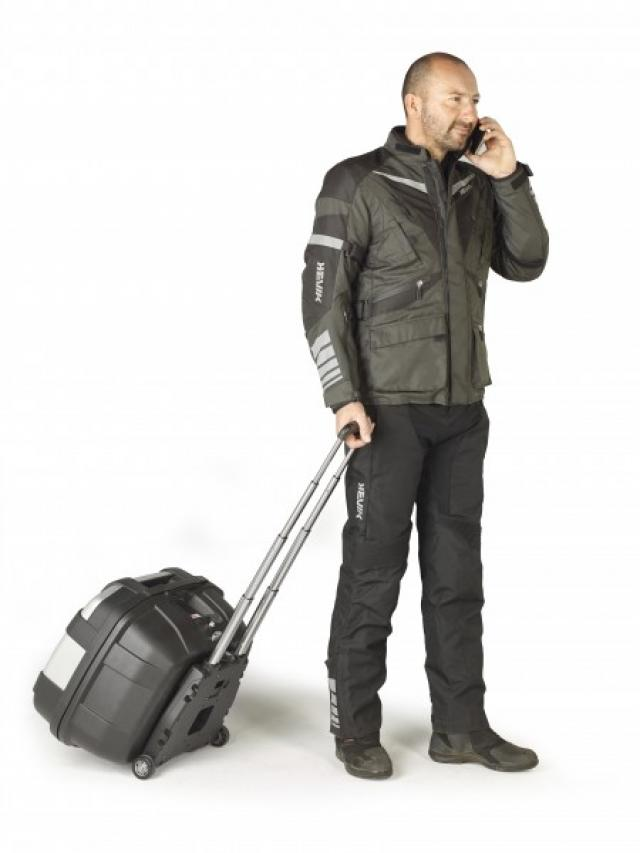 Givi top boxes become wheelie cases with new accessory