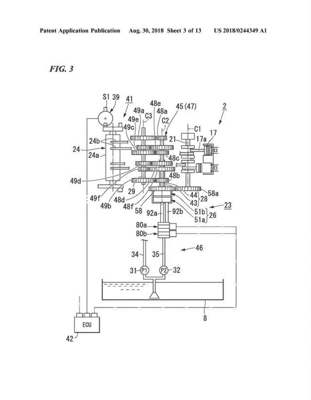 Honda DCT cruiser patent
