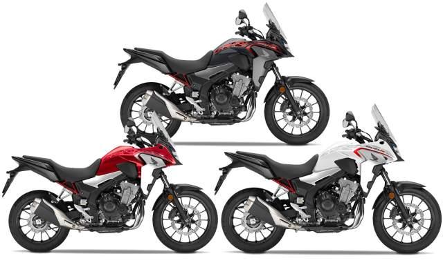 2021 Honda CB500X colours