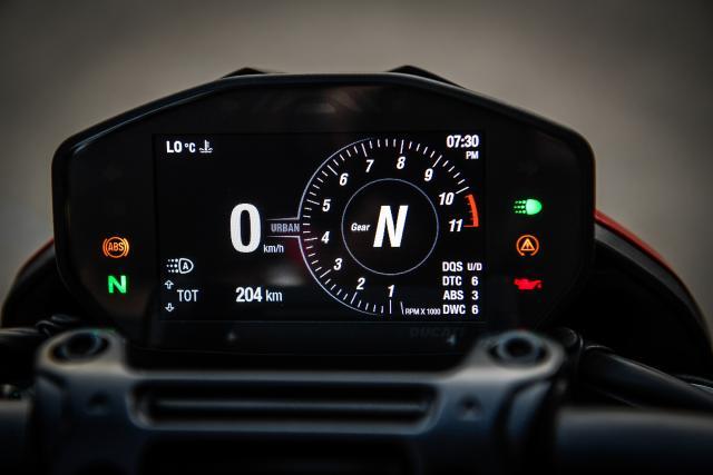 Ducati Hypermotard 950 dash