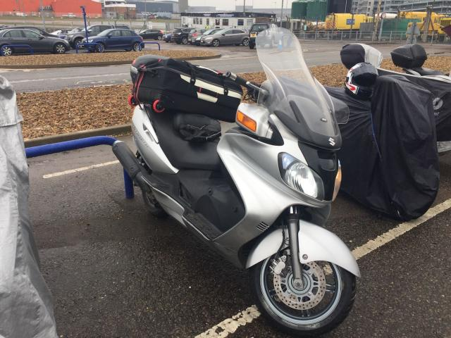 Burgman at Luton airport